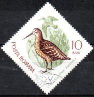 ROMANIA 1965 Migratory Birds -10b.   - Eurasian Woodcock   CTO - Oblitérés