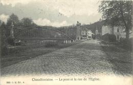 CHAUDFONTAINE LE PONT ET LA RUE DE L'EGLISE - Chaudfontaine