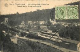 CHAUDFONTAINE VUE PANORAMIQUE ET TUNNEL DU CHEMIN DE FER BRUXELLES COLOGNE - Chaudfontaine