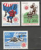 INDONESIA MNH ** 1981 ZBL 1062-64 DIVING HORSES PARA JUMPING MNH ** - Indonésie