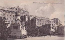 Italy Genova Piazza Acquaverde Hotel Savoia e Londra 1924