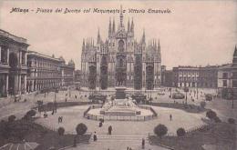 Italy Milano Piazza del Duomo col Monumento a Vittorio Emanuelle