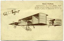 Biplan Paulham Constructeurs Les Frères Voisins - Avions