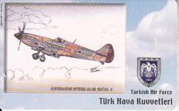 TURKEY(chip) - Airplane, Supermarne Spitfire MK-XIX 1947-54 4(50 Units), Used - Avions