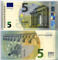 NEW BANKNOTES OF 5 EURO VA SPAGNA SPAIN ESPAGNE V003.o V004.. SIGNED DRAGHI UNC FDS - EURO