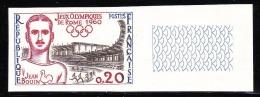TIMBRE FRANCE NON DENTELE N°1265a JEUX OLYMPIQUES DE ROME - JEAN BOUIN - NEUF SANS CHARNIERES - Frankreich