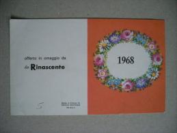 """Calendario/calendarietto Omaggio Da """"La RINASCENTE"""" 1968 - Formato Grande : 1961-70"""