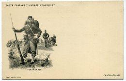"""Précurseur Carte Postale """"l'armée Française""""  Infanterie - Uniformes"""