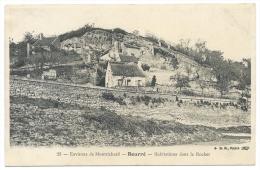 BOURRÉ (Loir Et Cher) Environs De Montrichard - Habitations Dans Le Rocher (Troglodytes) - N°23 - Montrichard