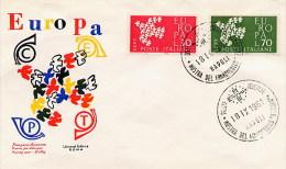 ITALIA  -  FDC   EUROPA  '61 - FDC