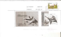 ENVELOPPE  AVEC TIMBRE LETTRE VERTE ANNEE 2013 LE PERCHERON OBLITERE - France
