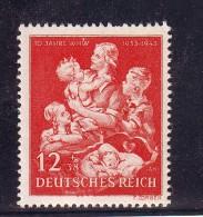 REICH  DEUTSCHLAND  GERMANIA GERMANY 1943 WINTERHILFSWERK Mi.859  MNH** - Alemania
