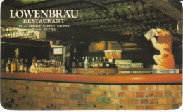 'Lowenbrau' Restaurant Bar Alcohol Bottles, Argyle Street Sydney Australia C1960s Vintage Card - Other Collections