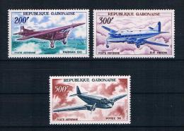 Gabun 1967 Flugzeuge Mi.Nr. 273/75 Kpl. Satz ** - Gabun (1960-...)