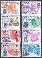 2588 Phone Space Bell 1976 Rwanda 8v Set MNH ** - Space