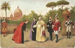 Nº39 S.S. PIO XI E LA SUA CORTE NEI GIARDINI VATICANI - Popes