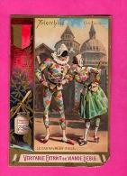 "Liebig Série      "" Le Carnaval En Italie ""   Arlecchino - Liebig"