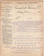 52 NONCOURT Sur Le Rongeant  Par POISSONS COURRIER 1924 TREFILERIE POINTERIE CORNIBERT Frères   * K25 - France