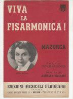 PES^255 - SPARTITO MUSICALE - VIVA LA FISARMONICA - MAZURCA - ERICA REICHEL  Ed.Musicali Eldorado - Spartiti