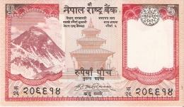 BILLETE DE NEPAL  DE 5 RUPEES SIN CIRCULAR-UNCIRCULATED (BANKNOTE) - Nepal