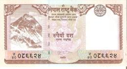 BILLETE DE NEPAL DE 10 RUPEES SIN CIRCULAR-UNCIRCULATED (BANKNOTE) - Nepal