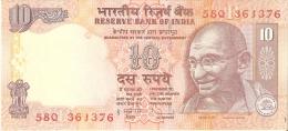 BILLETE DE LA INDIA DE 10 RUPIAS DEL AÑO 2009 SIN CIRCULAR-UNCIRCULATED  (BANKNOTE) - India