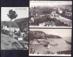 LOT 6 CPA ANCIENNES AVEC TAMPON MILITAIRE AU VERSO- FRANCE- 2 NICE- 2 TOUL- 1 ST-ANDRÉ- 1 ROYAT- 4 SCANS - 5 - 99 Postcards
