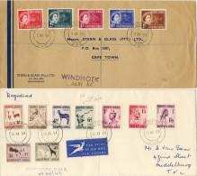 2 Prachtige Brieven Zuidwest-Afrika (Namibië) - 1953 En 1954 - South West Africa (1923-1990)