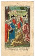 """IMAGE RELIGIEUSE Colorisée, 15,3 X 9,2 Cm, """"Evangelium Luc3 Cap"""" - Devotieprenten"""