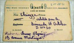 CARTE PARIS OBGIET 49 ??? - Cartes De Casino