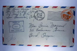 US  Postal Stationary Airmail Cover From Dutch New Guinea, Censor Passed To  Oregon, - Verenigde Staten