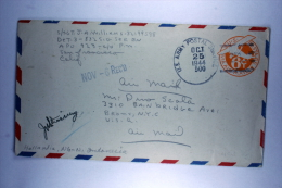 US Postal Stationary Airmail Cover APO 500 ( GHQ-USAF-Pac.), Hollandia Dutch New Guinea To NY Oct 1944 - Verenigde Staten