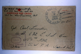 US  Airmail Cover APO 565, GHQ-USAF-Pac, From Hollandia To APO 332 Finschhafen On  Dutch New Guinea - Verenigde Staten