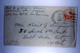 US  Postal Stationary Cover  APO 926, Morotai On Dutch New Guinea, HQ 13th AF, NO CENSOR Cancel, Handwritten Lt. AJ Dick - Verenigde Staten