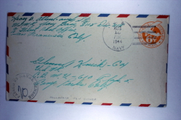 US  Postal Stationary Cover Naval Censor From Hollandia, Dutch New Guinea To USA - Verenigde Staten