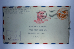 US Postal Stationary Airmail Cover Dutch New Guinea To USA Cancel In Red We Lead Red Raiders 22nd Bomb Group - Verenigde Staten