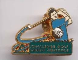 Pin´s Crédit Agricole - Challenge Golf - Golf