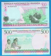 RWANDA - 500 Franc 1998 SC  P-26 - Ruanda