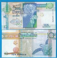 SEYCHELLES - 10  Rupias  1998 SC  P-36 - Seychellen