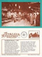 Postcard SMITHFIELD MARKET C1912 London Meat Wholesaler Porter Nostalgia Repro - Markets