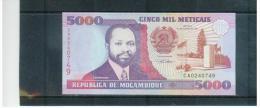 MOCAMBIQUE , MOZAMBIQUE , 16.6.1991  ,  5000  Meticais   ,   Pick# 136   ,   UNC - Mozambique