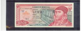 MEXIKO  ,  MEXICO    ,   20 Pesos    ,    Pick#725d    8.7.1977 - Mexiko
