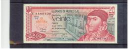 MEXIKO  ,  MEXICO    ,   20 Pesos    ,    Pick#725d    8.7.1977 - Mexique