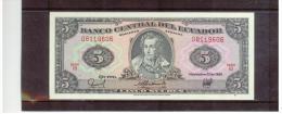 ECUADOR   ,   5 Sucres   ,   Pick#113d       ,    22-11-1988 - Ecuador