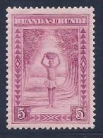 Ruanda-Urundi, Scott # 37 Mint Hinged Porter,1938 - Ruanda-Urundi