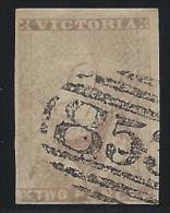 Victoria 1850, 2p Gray Lilac, Scott #6a, Used, Very Fine - 1850-1912 Victoria