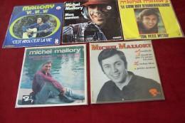 MICHEL  MALLORY  °  COLLECTION DE 5 / 45 TOURS - Collections Complètes
