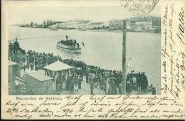 Recuerdos De Valdivia Chile 20.2.1907 Puerto Hafen Harbour Dampfer Ship Boat - Chile