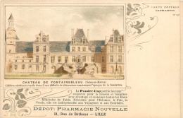 59 LILLE PHARMACIE NOUVELLE  51 RUE DE BETHUNE CARTE PUBLICITAIRE VOIR RECTO VERSO - Lille