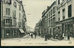 Le Mans La Rue Nationale Chocolat H. Bigot Atelier Sw Um 1910 R. Barbier Edit. - Le Mans